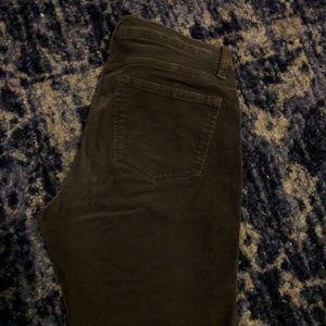 Brown corduroy skinny jeans